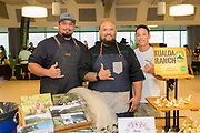 SHRIMP<br /> Curators: Anthony Mau, Kualoa Grown (Kualoa Ranch) and Dustin Moss, Oceanic Institute<br /> Chef: Kimo Ka'uhane, Kualoa Ranch<br /> Pacific white shrimp (Litopenaeus vannamei) are locally grown at Kualoa Ranch's Pahalona Ag Center in Hakipu'u, one of the last-standing aquatic farms producing prawns. Ironically, this was the very first shrimp farms established on Oahu back in the early 1980's. Today, we feature shrimp being produced in 0.5-acre earthen ponds using fresh seawater derived from Kaneohe Bay, which yields ~200lbs of fresh shrimp per week.