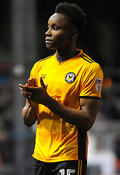 Shawn McCoulsky of Newport County thanks fans after the final whistle  - Mandatory by-line: Nizaam Jones/JMP- 23/01/2018 - FOOTBALL - Rodney Parade - Newport, Wales- Newport County v Morecambe - Sky Bet League Two