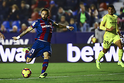 January 4, 2019 - Valencia, Spain - Levante's defender  Jose Luis Morales during  spanish La Liga match between Levante UD vs Girona FC  at Ciutat de Valencia  Stadium on January  4, 2018. (Photo by Jose Miguel Fernandez/NurPhoto) (Credit Image: © Jose Miguel Fernandez/NurPhoto via ZUMA Press)