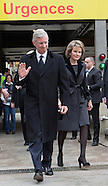 Queen Mathilde & King Philippe Visit Victims Of Brussels Attack