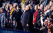 07.02.2014. Sochi, Russia. Opening Ceremonies for the XXII Olympic Winter Games Sochi 2014. FISHT Stadium, Adler/Sochi, Russia Russian President Vladimir Putin (R) and IOC president Thomas Bach