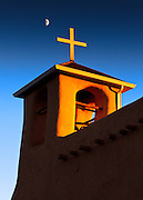 Moonrise over San Francisco de Asis Church in Ranchos de Taos, New Mexico.