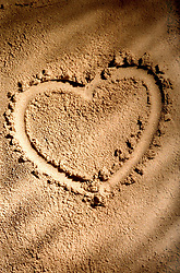 Aug. 23, 2012 - Heart shape on sand (Credit Image: © Image Source/ZUMAPRESS.com)