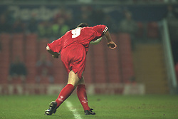 Liverpool, England - Wednesday, November 27th, 1996: Liverpool's Robbie Fowler during the 4-2 victory over Arsenal during the 4th Round of the League Cup at Anfield. (Pic by David Rawcliffe/Propaganda)
