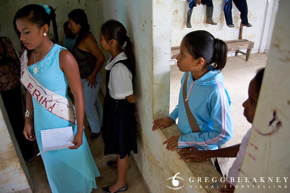 A school beauty pageant participant - Puerto Narino - Amazonas - Colombia