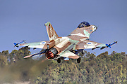 Israeli Air Force (IAF) F-16C Fighter jet at take off