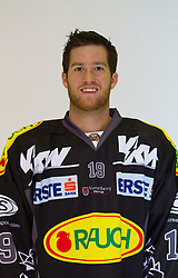 29.08.2012, Messestadion, Dornbirn, AUT, EBEL, Spielerportraits, Dornbirner Eishockey Club, im Bild Clark MacLean, (Dornbirner HC, #19)// during Dornbirner Eishockey Club Player Portrait Session at the Messestadion, Dornbirn, Austria on 2012/08/29, EXPA Pictures © 2012, PhotoCredit: EXPA/ Peter Rinderer