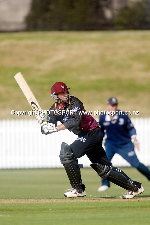 02/03 State Shield Cricket, Auckland Aces vs Northern Knights, Auckland, New Zealand.<br />Robbie Hart.<br />Pic: Photosport