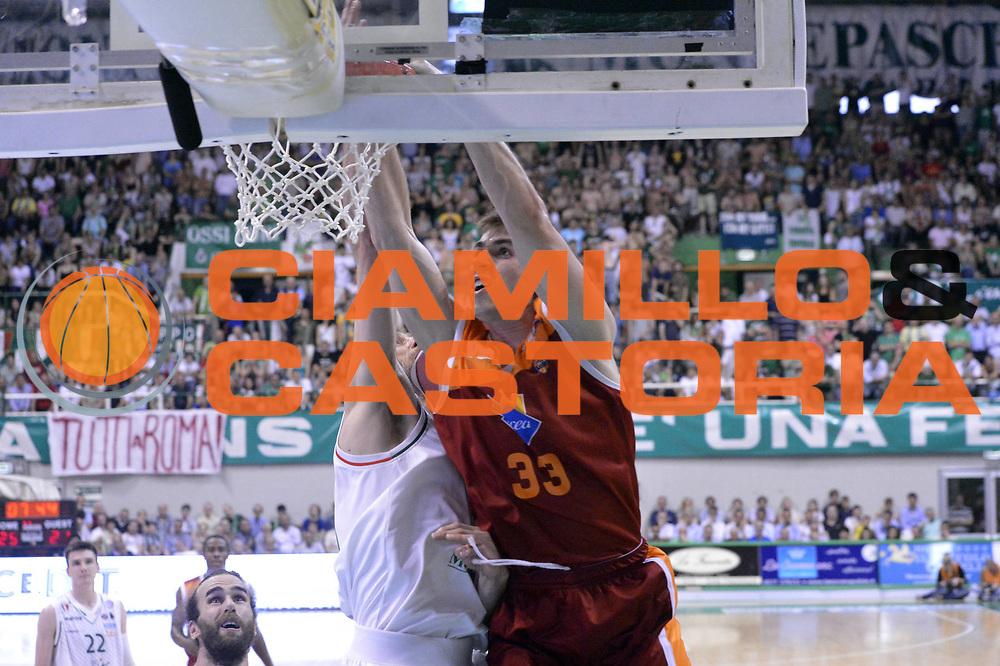 DESCRIZIONE : Roma Lega A 2012-2013 Montepaschi Siena Acea Roma playoff finale gara 4<br /> GIOCATORE : Aleksander Czyz<br /> CATEGORIA : Schiacciata Sequenza<br /> SQUADRA : Acea Roma<br /> EVENTO : Campionato Lega A 2012-2013 playoff finale gara 4<br /> GARA : Montepaschi Siena Acea Roma<br /> DATA : 17/06/2013<br /> SPORT : Pallacanestro <br /> AUTORE : Agenzia Ciamillo-Castoria/GiulioCiamillo<br /> Galleria : Lega Basket A 2012-2013  <br /> Fotonotizia : Roma Lega A 2012-2013 Montepaschi Siena Acea Roma playoff finale gara 4<br /> Predefinita :
