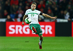 November 12, 2017 - Basel, Switzerland - Jamie Ward of Northern Ireland  during the FIFA 2018 World Cup Qualifier Play-Off: Second Leg between Switzerland and Northern Ireland at St. Jakob-Park on November 12, 2017 in Basel, Basel-Stadt. (Credit Image: © Matteo Ciambelli/NurPhoto via ZUMA Press)