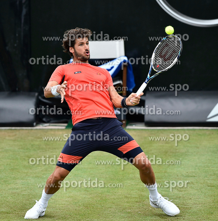 10.06.2015, Tennis Club Weissenhof, Stuttgart, GER, ATP Tour, Mercedes Cup Stuttgart, im Bild Feliciano Lopez (ESP) Aktion // during the Mercedes Cup of ATP world Tour at the Tennis Club Weissenhof in Stuttgart, Germany on 2015/06/10. EXPA Pictures &copy; 2015, PhotoCredit: EXPA/ Eibner-Pressefoto/ Weber<br /> <br /> *****ATTENTION - OUT of GER*****