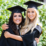 "25.08.2016          <br />  Faculty of Business, Kemmy Business School graduations at the University of Limerick today. <br /> <br /> Attending the conferring were graduates, Aisling Conway, BBs, Wicklow Town and Orla O'Hara, BA in International Studies Castlebar Co. Mayo. Picture: Alan Place.<br /> <br /> <br /> As the University of Limerick commences four days of conferring ceremonies which will see 2568 students graduate, including 50 PhD graduates, UL President, Professor Don Barry highlighted the continued demand for UL graduates by employers; ""Traditionally UL's Graduate Employment figures trend well above the national average. Despite the challenging environment, UL's graduate employment rate for 2015 primary degree-holders is now 14% higher than the HEA's most recently-available national average figure which is 58% for 2014"". The survey of UL's 2015 graduates showed that 92% are either employed or pursuing further study."" Picture: Alan Place"