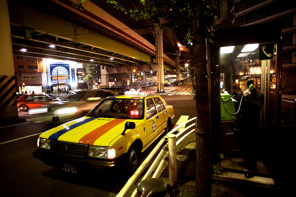 Japan, Tokyo<br /> A night scene in the city.<br /> &copy;Carmen Secanella.