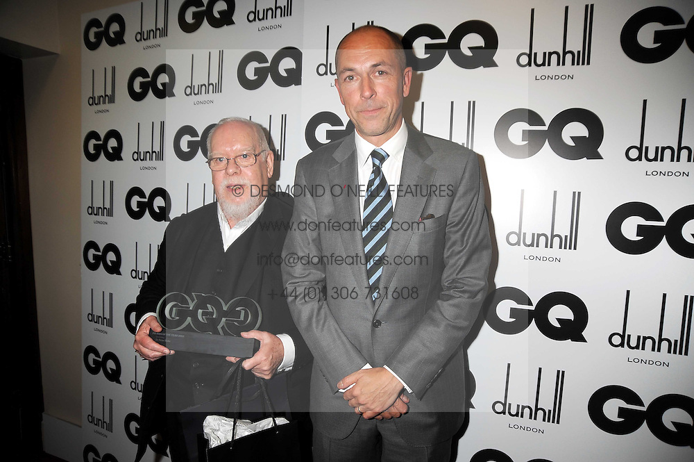Left to right, SIR PETER BLAKE and DYLAN JONES at the GQ Men of the Year Awards held at the Royal Opera House, London on 2nd September 2008.<br /> <br /> NON EXCLUSIVE - WORLD RIGHTS