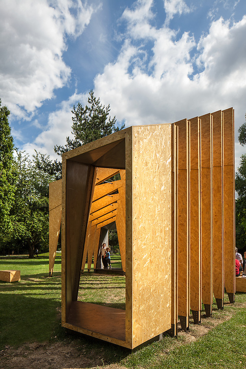 triumph pavillion london festival architecture ecospace itp architects wooden temporary pavillion