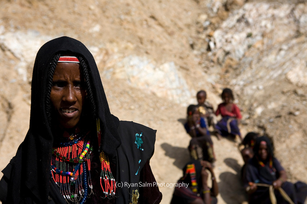 .An Afar woman in the Danakil