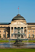 Bowling Green, Brunnen, Kurhaus, Wiesbaden, Hessen, Deutschland.|.Bowling Green, fountain, Kurhaus, Wiesbaden, Hessen, Germany