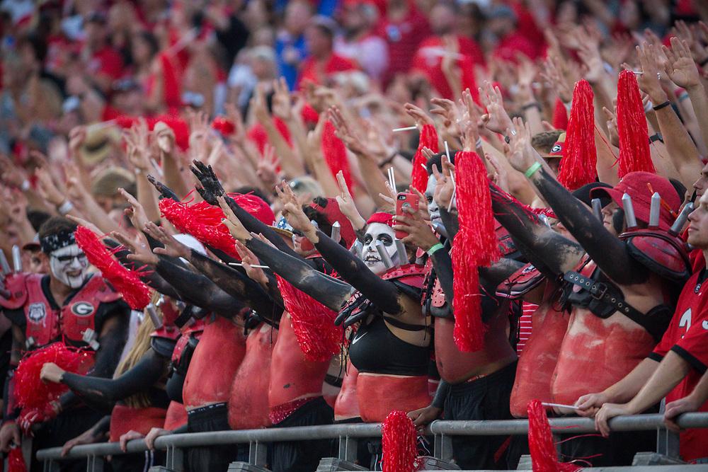 during the second half of an NCAA football game, Saturday, Oct. 29, 2016, in Jacksonville, Fla. Florida beat Georgia 24-10. (AP Photo/Stephen B. Morton)