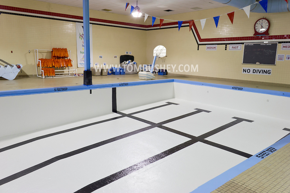 Middletown, New York - The swimming pool at the Middletown YMCA was drained and then repainted. The pool is briefly closed each year for maintenance.