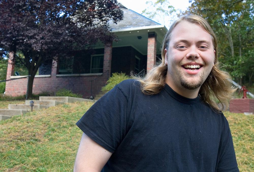 Ty Dawson, resident of O.U.'s ecohouse. photographed on Friday, 10/6/06.
