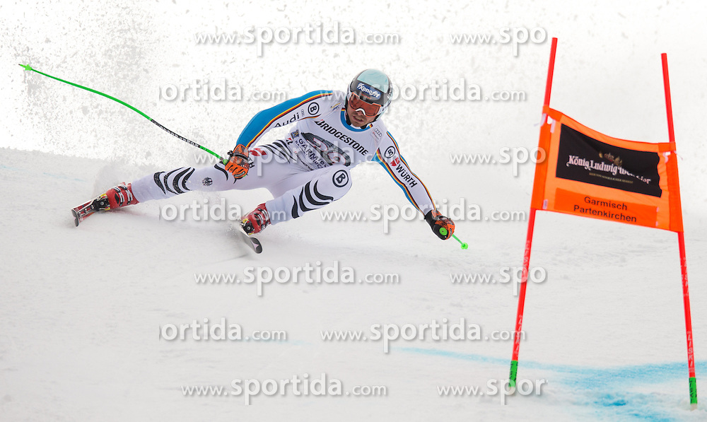 28.01.2016, Kandahar, Garmisch Partenkirchen, GER, FIS Weltcup Ski Alpin, Abfahrt, Herren, 1. Training, im Bild Andreas Sander (GER) // Andreas Sander of Germany competes in his 1st training run for the men's Downhill of Garmisch FIS Ski Alpine World Cup at the Kandahar course in Garmisch Partenkirchen, Germany on 2016/01/28. EXPA Pictures © 2016, PhotoCredit: EXPA/ Johann Groder