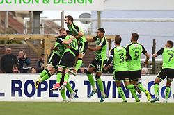 Nathan Blissett of Plymouth Argyle celebrates his goal with team mates - Mandatory by-line: Dougie Allward/JMP - 30/09/2017 - FOOTBALL - Memorial Stadium - Bristol, England - Bristol Rovers v Plymouth Argyle - Sky Bet League One