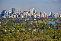Calgary Skyline & Bow River, Edgeworthy Park