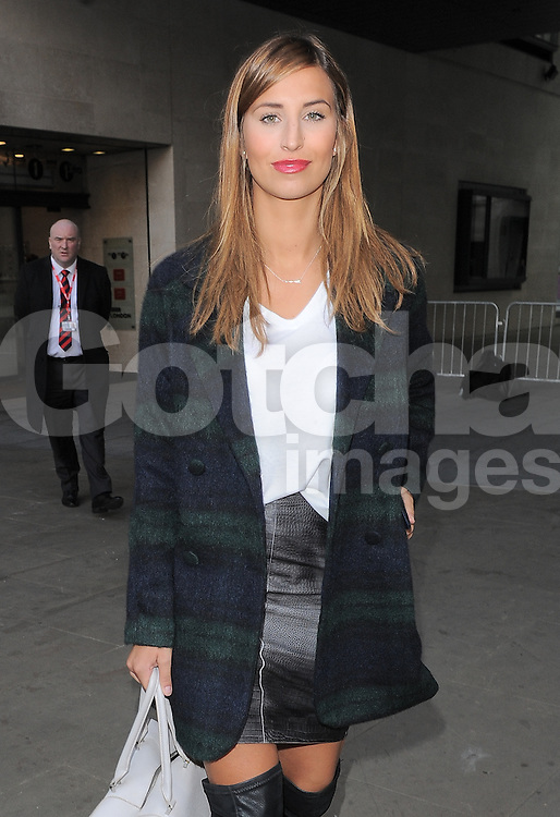 TOWIE star Ferne McCann leaving BBC Radio 1 in central London, UK. 03/10/2014<br />
