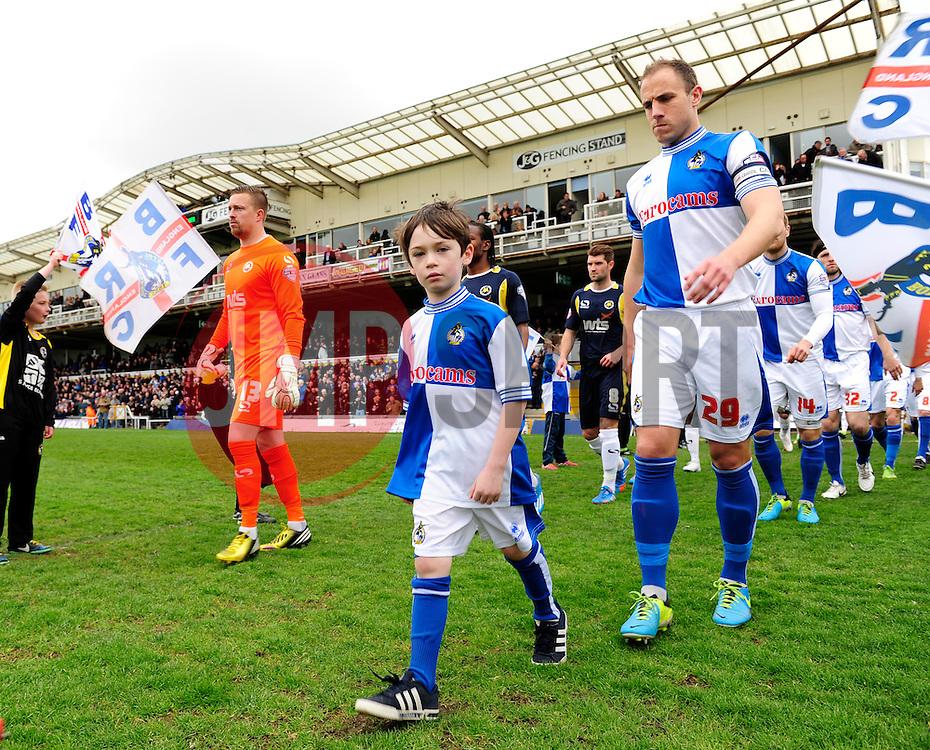 mascot  - Photo mandatory by-line: Dougie Allward/JMP - Mobile: 07966 386802 12/04/2014 - SPORT - FOOTBALL - Bristol - Memorial Stadium - Bristol Rovers v Torquay United - Sky Bet League Two