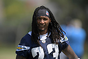 Aug 14, 2019; Costa Mesa, CA, USA: Los Angeles Chargers safety Rayshawn Jenkins (23) during training camp at the Jack Hammett Sports Complex.