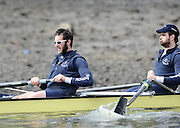 Putney, GREAT BRITAIN,   2008 Boat Race, Tideway Week, left to right,  Aaron MARCOVY and Ben SMITH, during the Oxford Training outing on the River Thames, Wed. 26.03.2008 [Mandatory Credit, Peter Spurrier / Intersport-images Varsity Boat Race, Rowing Course: River Thames, Championship course, Putney to Mortlake 4.25 Miles,