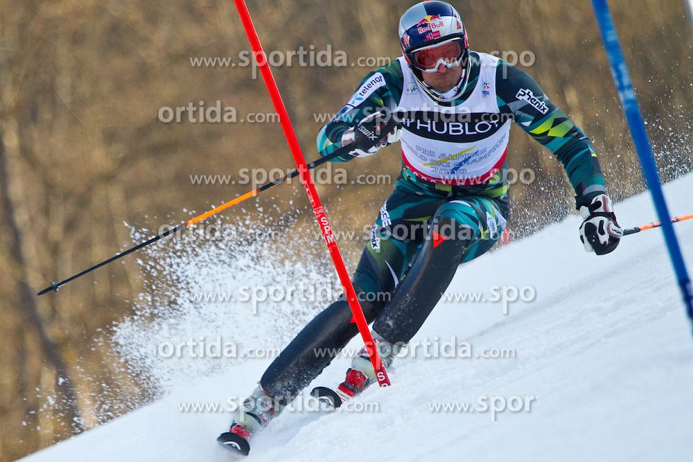 14.02.2011, Kandahar, Garmisch Partenkirchen, GER, FIS Alpin Ski WM 2011, GAP, Herren, Super Combination, im Bild Aksel Lund Svindal (NOR) // Aksel Lund Svindal (NOR) during Supercombi Men Fis Alpine Ski World Championships in Garmisch Partenkirchen, Germany on 14/2/2011. EXPA Pictures © 2011, PhotoCredit: EXPA/ J. Groder