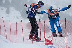CODINA THOMATIS Carlos Javier, SHEA Mike, Snowboarder Cross, 2015 IPC Snowboarding World Championships, La Molina, Spain