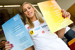 Snezana Rodic at press conference of team Slovenia at arrival at the end of European Athletics Championships Barcelona 2010 to Slovenia, on August 2, 2010 at Airport Joze Pucnik, Brnik, Slovenia. (Photo by Vid Ponikvar / Sportida)
