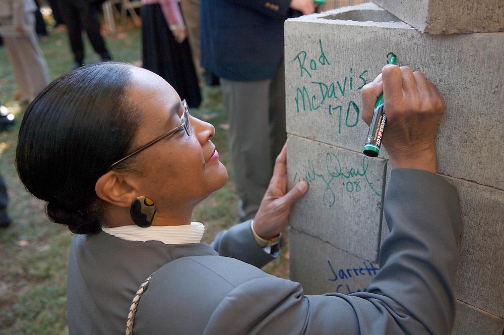 18414Academic & Research Center Groundbreaking September 29, 2007...Mrs. McDavis