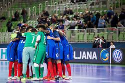 Players of team France during futsal match between France and Azerbaijan at Day 4 of UEFA Futsal EURO 2018, on February 2, 2018 in Arena Stozice, Ljubljana, Slovenia. Photo by Urban Urbanc / Sportida