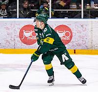 2019-12-02 | Umeå, Sweden: Björklöven (12) Brian Cooper in HockeyAllsvenskan during the game  between Björklöven and Mora at A3 Arena ( Photo by: Michael Lundström | Swe Press Photo )<br /> <br /> Keywords: Umeå, Hockey, HockeyAllsvenskan, A3 Arena, Björklöven, Mora, mlbm191202