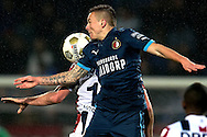 Onderwerp/Subject: Willem II - Feyenoord - Eredivisie<br /> Reklame:  <br /> Club/Team/Country: <br /> Seizoen/Season: 2012/2013<br /> FOTO/PHOTO: Niek VOSSEBELT (BEHIND) of Willem II in duel with Jordy CLASIE (FRONT) of Feyenoord. (Photo by PICS UNITED)<br /> <br /> Trefwoorden/Keywords: <br /> #04 $94 &plusmn;1354627667242<br /> Photo- &amp; Copyrights &copy; PICS UNITED <br /> P.O. Box 7164 - 5605 BE  EINDHOVEN (THE NETHERLANDS) <br /> Phone +31 (0)40 296 28 00 <br /> Fax +31 (0) 40 248 47 43 <br /> http://www.pics-united.com <br /> e-mail : sales@pics-united.com (If you would like to raise any issues regarding any aspects of products / service of PICS UNITED) or <br /> e-mail : sales@pics-united.com   <br /> <br /> ATTENTIE: <br /> Publicatie ook bij aanbieding door derden is slechts toegestaan na verkregen toestemming van Pics United. <br /> VOLLEDIGE NAAMSVERMELDING IS VERPLICHT! (&copy; PICS UNITED/Naam Fotograaf, zie veld 4 van de bestandsinfo 'credits') <br /> ATTENTION:  <br /> &copy; Pics United. Reproduction/publication of this photo by any parties is only permitted after authorisation is sought and obtained from  PICS UNITED- THE NETHERLANDS