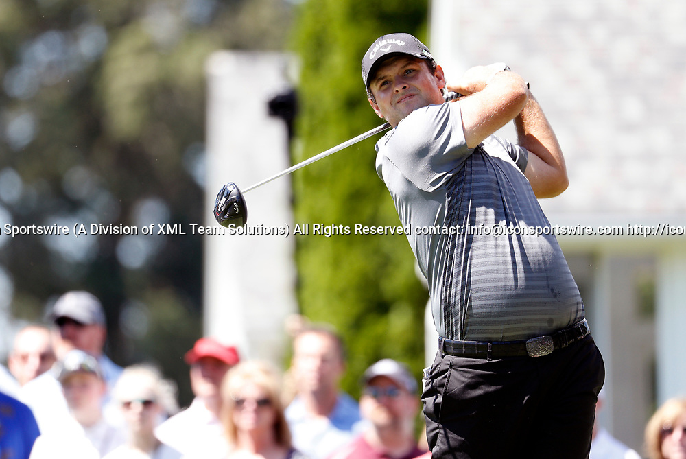 CROMWELL, CT - JUNE 24: Patrick Reed of the United States hits from the 6th tee during the third round of the Travelers Championship on June 24, 2017, at TPC River Highlands in Cromwell, Connecticut. (Photo by Fred Kfoury III/Icon Sportswire)