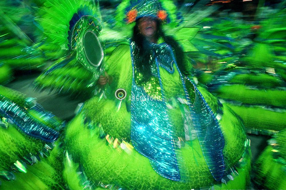 Carnaval 1999, Rio de Janeiro. Mangueira / samba school parades in the Sambadrome in the 1999 Carnival in Rio.