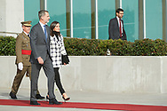 King Felipe VI of Spain, Queen Letizia of Spain depart from Adolfo Suarez Madrid-Barajas Airport to Cuba for Two Days State Visit  on November 11, 2019 in Madrid, Spain