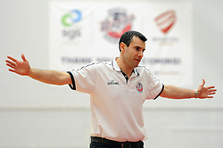 Bristol Flyers head coach, Andreas Kapoulas - Photo mandatory by-line: Dougie Allward/JMP - Mobile: 07966 386802 - 27/02/2015 - SPORT - basketball - Bristol - SGS Wise Campus - Bristol Flyers v Leeds Force - British Basketball League