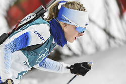 February 11, 2018 - Pyeongchang, GANGWON, SOUTH KOREA - Feb 10, 2018-Pyeongchang, South Korea-Venla LEHTONEN of Finland action on the snow during an Olympic Biathlon Women Sprint 7.5Km at Biathlon Center in Pyeongchang, South Korea. (Credit Image: © Gmc via ZUMA Wire)