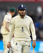 Jonny Bairstow of England during the International Test Match 2019, fourth test, day three match between England and Australia at Old Trafford, Manchester, England on 6 September 2019.