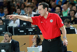 02.09.2014, City Arena, Bilbao, ESP, FIBA WM, USA vs Neuseeland, im Bild USA's coach Mike Krzyzewski // during FIBA Basketball World Cup Spain 2014 match between USA and New Zealand at the City Arena in Bilbao, Spain on 2014/09/02. EXPA Pictures © 2014, PhotoCredit: EXPA/ Alterphotos/ Acero<br /> <br /> *****ATTENTION - OUT of ESP, SUI*****