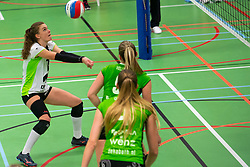 19-01-2019 NED: Pharmafilter US - Dros-Alterno, Amsterdam<br /> Round 15 of Eredivisie volleyball. Alterno win 3-0 (17-25 16-25 20-25) of US / Yvette Visser #1 of Alterno