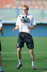 BAKU, AZERBAIJAN - Friday, June 5, 2009: Wales' Shaun MacDonald during training at the Shafa Stadium ahead of the 2010 FIFA World Cup Qualifying Group 4 match against Azerbaijan. (Pic by David Rawcliffe/Propaganda)