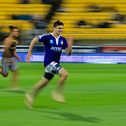 Half-time relay race during the super rugby union  game between Hurricanes  and Highlanders, played at Westpac Stadium, Wellington, New Zealand on 24 March 2018.  Hurricanes won 29-12.