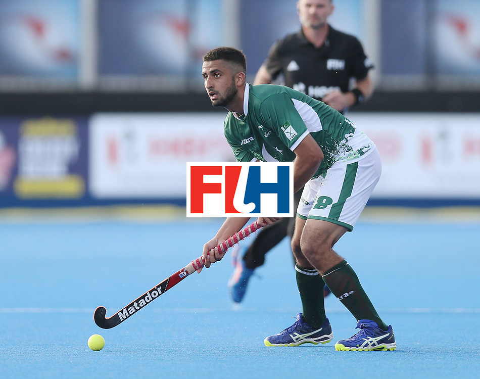 LONDON, ENGLAND - JUNE 16:  Muhammad Yaqoob of Pakistan during the Hero Hockey World League semi final match between Pakistan and Canada at Lee Valley Hockey and Tennis Centre on June 16, 2017 in London, England.  (Photo by Alex Morton/Getty Images)
