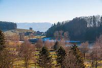Beautiful winter landscape in the Reppischtal, near Zurich, Switzerland.